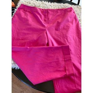 NWT Lane Bryant Pink Cropped Pants Size 26